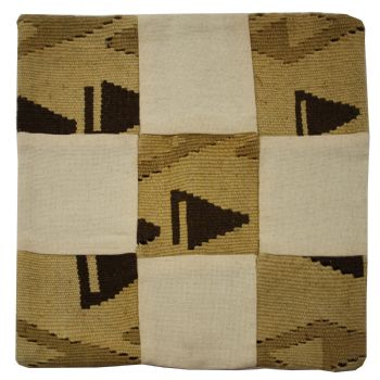 Handmade Turkish Kilim and Cotton Cushion Cover